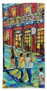 Bourbon Street New Orleans By Prankearts Beach Towel