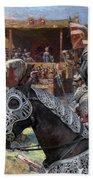Bouvier Des Flandres - Flandres Cattle Dog Art Canvas Print - Knights Tournir Beach Towel