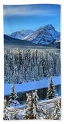 Bow River Valley View Beach Towel