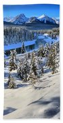 Bow Valley Mountains Beach Towel