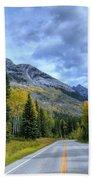 Bow Valley Parkway Banff National Park Alberta Canada Vi Beach Towel