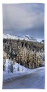 Bow Valley Parkway Winter Scenic Beach Towel
