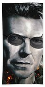 Bowie With Glasses Beach Towel