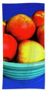 Bowl Of Apples Beach Towel