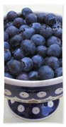 Bowl Of Blueberries Beach Towel