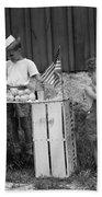 Boys Selling Lemonade, C.1940s Beach Towel