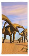 Brachiosaurus Beach Beach Towel