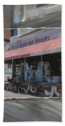 Brady Street - Peter Scortino Bakery Layered Beach Towel