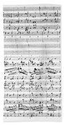 Brahms Manuscript Beach Towel