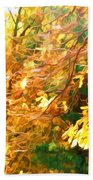 Branch Of Autumn Leaves Beach Towel