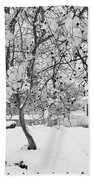 Branches In Snow Beach Towel