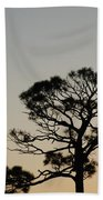 Branches In The Sunset Beach Towel