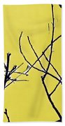 Branching Out Snowscape 3 Beach Towel
