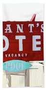 Brants Motel Sign Barstow Beach Towel