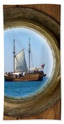 Brass Porthole Beach Towel