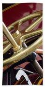 Brass Steering Wheel Beach Towel