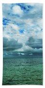 Breaking Clouds In Key West, Florida Beach Sheet
