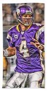 Brett Favre Minnesota Vikings Beach Sheet
