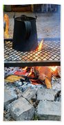 Brewing Outdoors Beach Towel