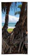 Bribie Trees  Beach Towel