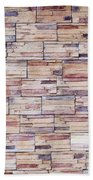 Brick Tiled Wall Beach Towel
