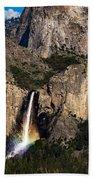 Bridalveil Falls Rainbow #3 Beach Towel