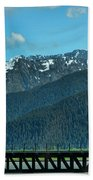 Bridge Alaska Rail  Beach Towel