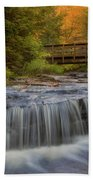 Bridge And Falls Beach Towel