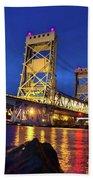 Bridge Houghton/hancock Lift Bridge -2669 Beach Towel