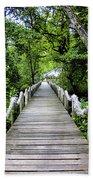 Bridge In Kosrae Beach Towel