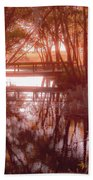 Bridge In Red Beach Towel