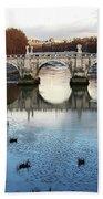 Bridge In Rome Beach Towel