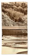 Bridge In Sepia Beach Towel