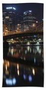 Bridge In The Heart Of Pittsburgh Beach Towel