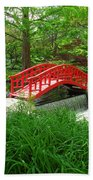 Bridge In The Woods Beach Towel