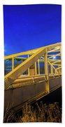 Bridge Meridian Sault Ste. Marie, Michigan -6792 Beach Towel