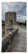 Bridge Of Besalu, Girona Provence, Catalonia, Spain-2 Beach Towel