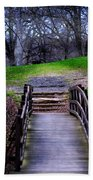 Bridge On The Trail Beach Towel