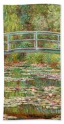 Bridge Over A Pond Of Water Lilies Beach Towel