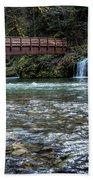 Bridge Over Hackleman Creek Beach Towel
