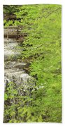 Bridge Over Little Clifty Falls Beach Towel
