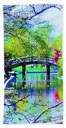 Bridge Over Peaceful Waters Beach Towel