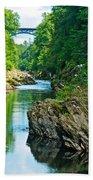 Bridge Over Quechee Gorge-vermont  Beach Towel