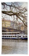 Bridge Over River Vltava Beach Towel