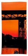 Bridge Over Sunset Beach Towel
