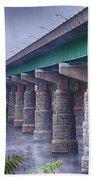 Bridge Over The Delaware River Beach Towel