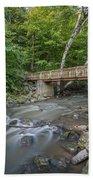 Bridge Over The Pike River Beach Towel