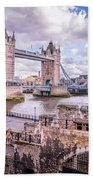 Bridge Over The Thames Beach Towel