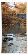 Bridge Over The Wissahickon At Valley Green Beach Towel