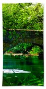 Bridge Over The Wissahickon Beach Towel by Bill Cannon